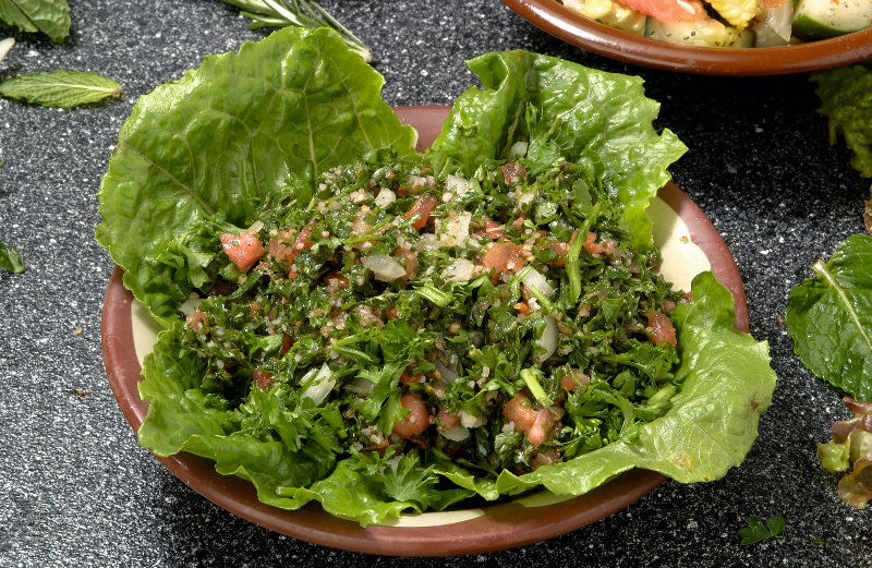 Salads and other vegetarian selections
